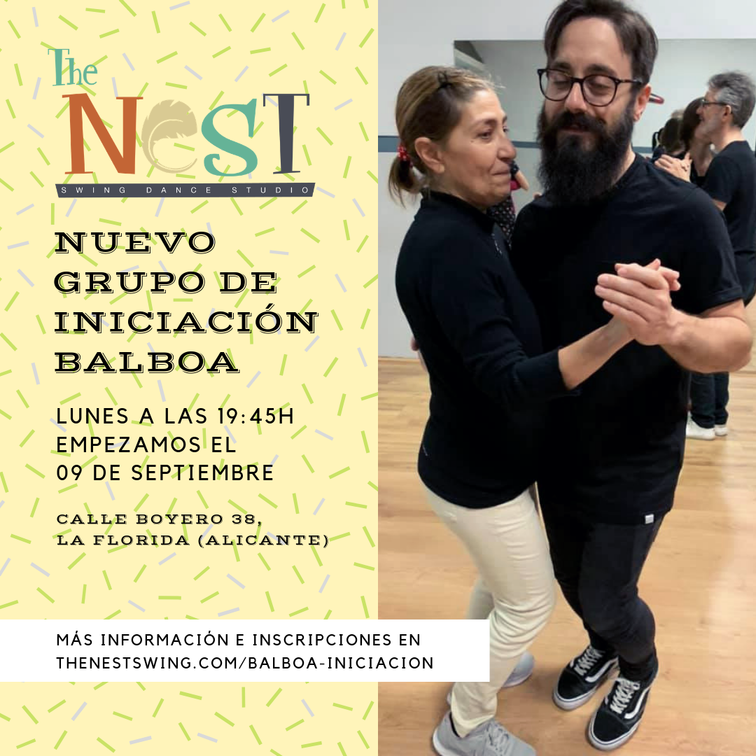 Nuevo grupo de iniciación al Balboa en The Nest Swing Dance Studio
